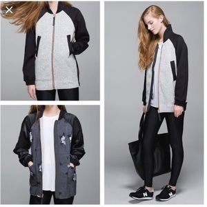 Lululemon Both Ways Reversible Bomber Jacket